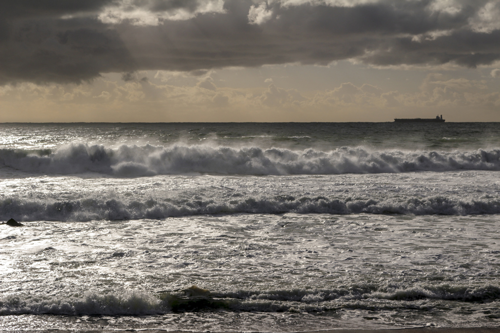 Vue sur l'océan à Cape Town en Afrique du Sud