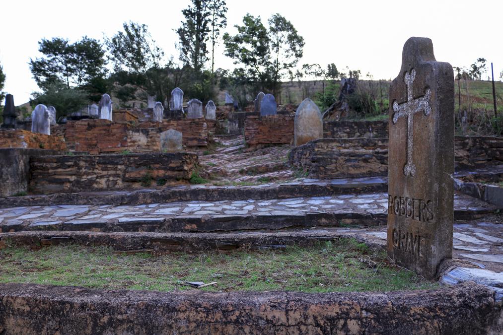 Cimetière de Pilgrim's Rest en Afrique du Sud
