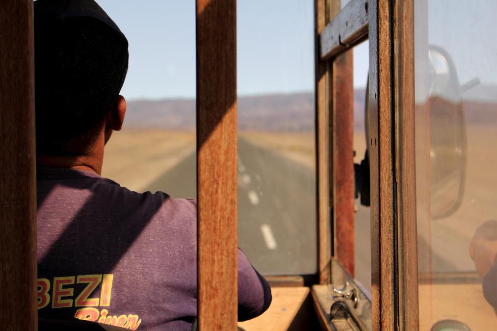Bus en Namibie