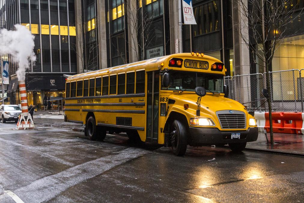 Bus scolaire à New York