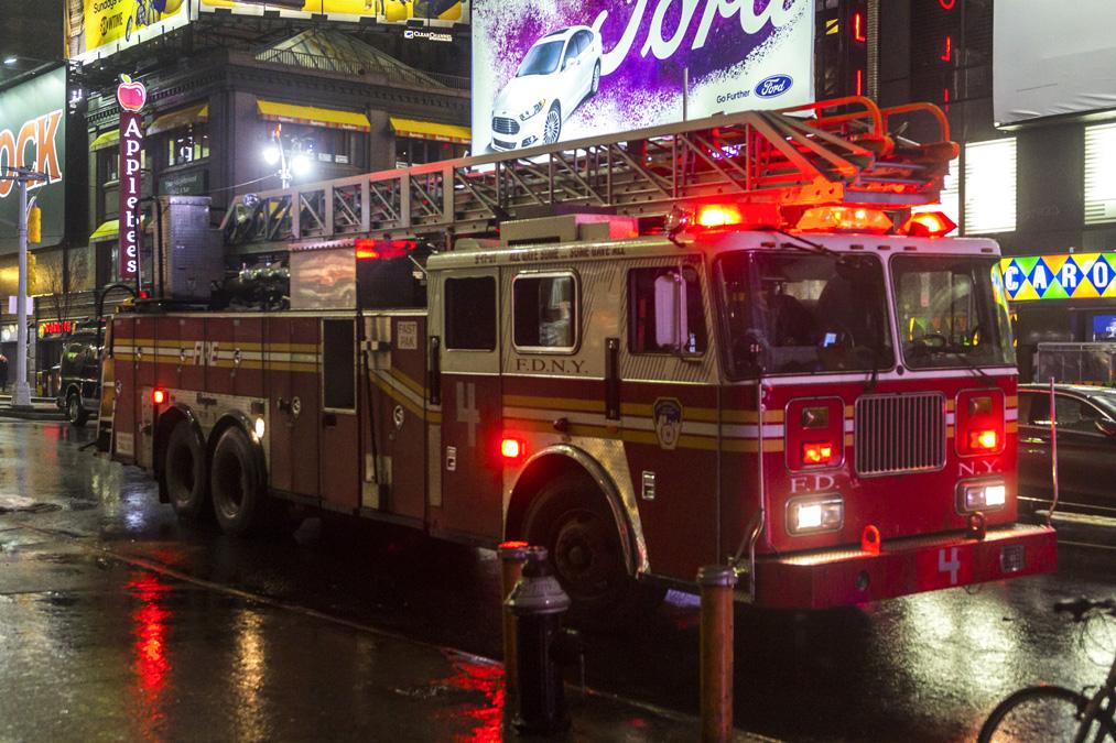 Camion de pompier à New York