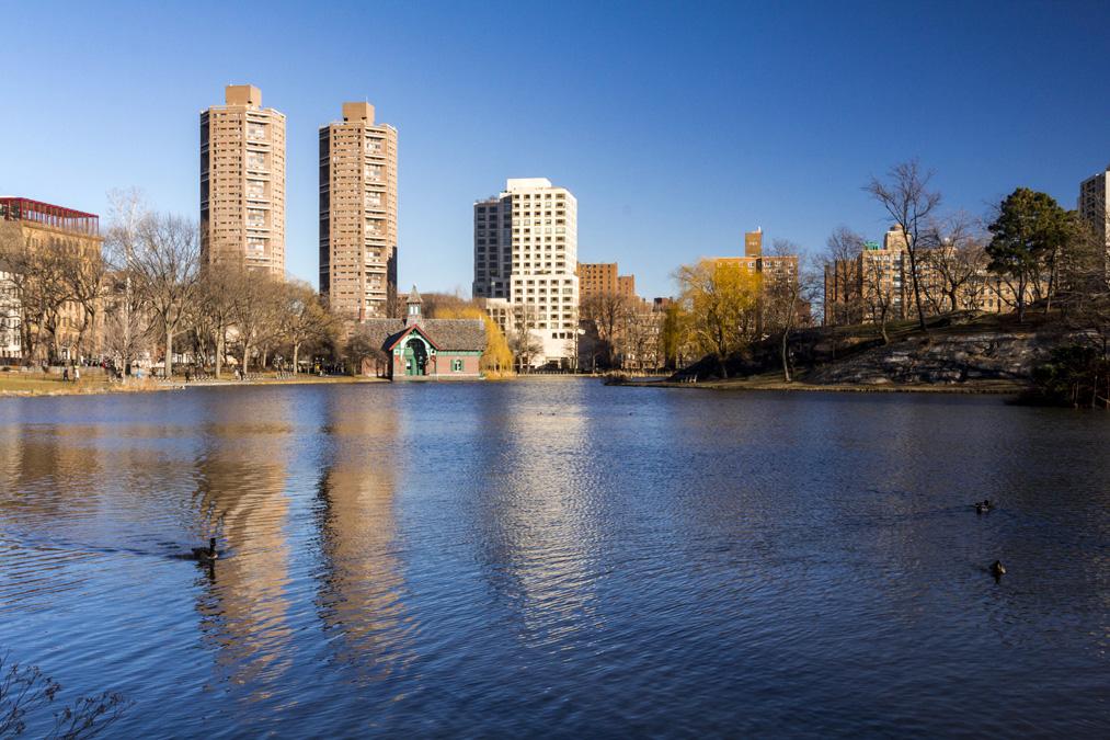 Harlem Meer de Central Park à New York