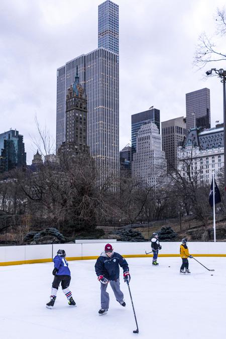 Patinoire de Central Park à New York