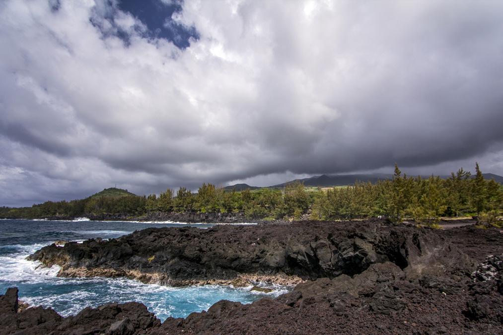 Coulée de lave 1977 à la Réunion