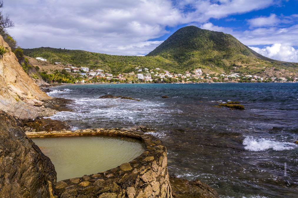 Les sources chaudes Dlo Ferré en Martinique