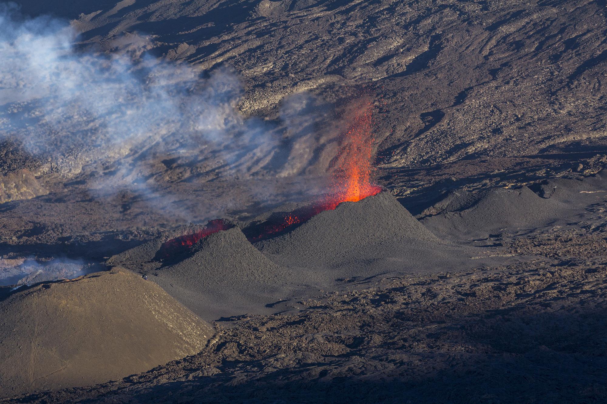 Éruption du Piton de la Fournaise en Août 2015 à la Réunion