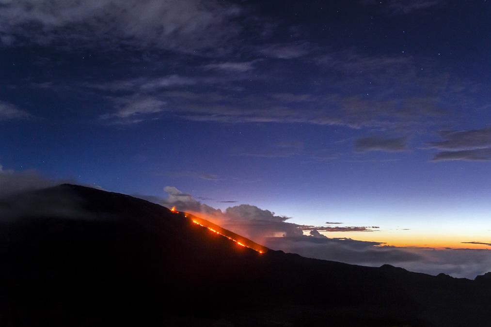 Éruption du Piton de la Fournaise en Février 2015 à la Réunion