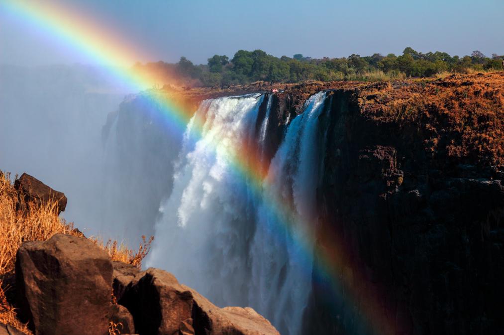 Horseshoe Falls des Victoria Falls au Zimbabwe