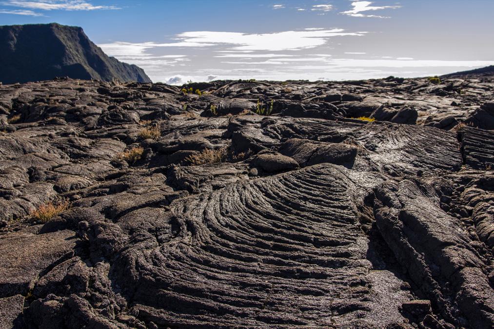 Lave cordée à la Réunion