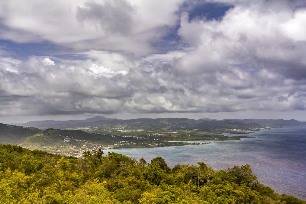 Panorama depuis le Morne Larcher en Martinique