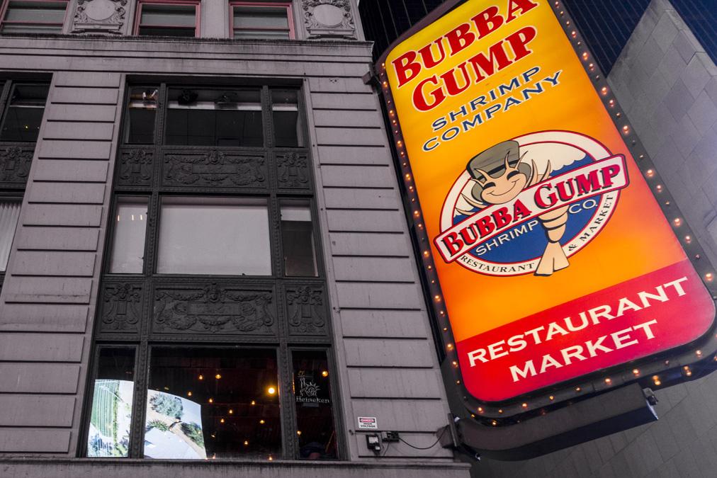 Bubba Gump de Times Square à New York