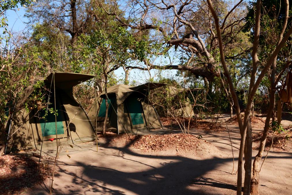 Campement sur l'Okavango Delta au Botswana
