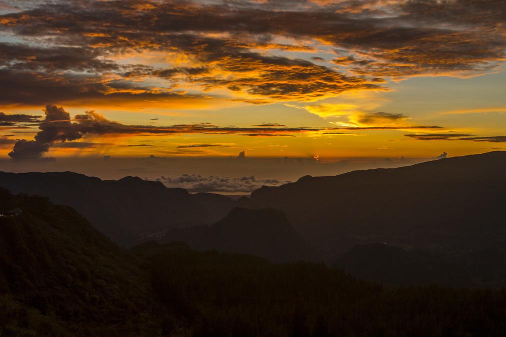 Panorama depuis le Col des Bœufs à la Réunion