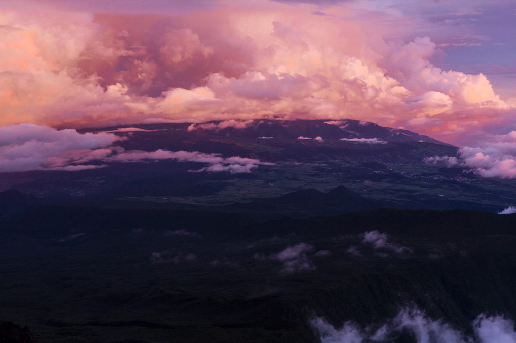Panorama depuis le Piton des Neiges à la Réunion