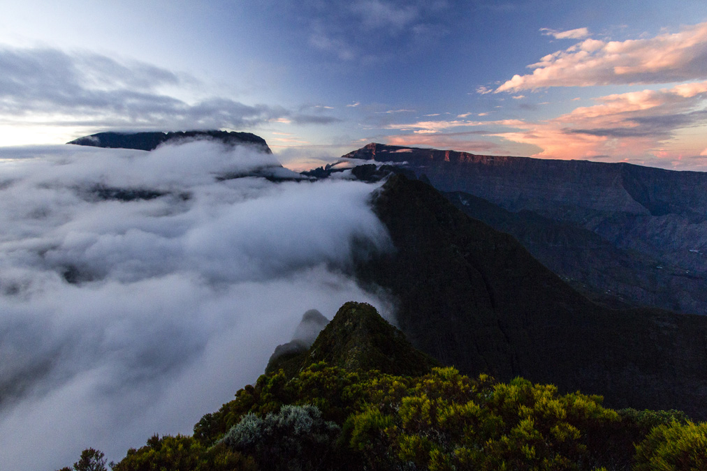 Panorama depuis la Roche Écrite à la Réunion