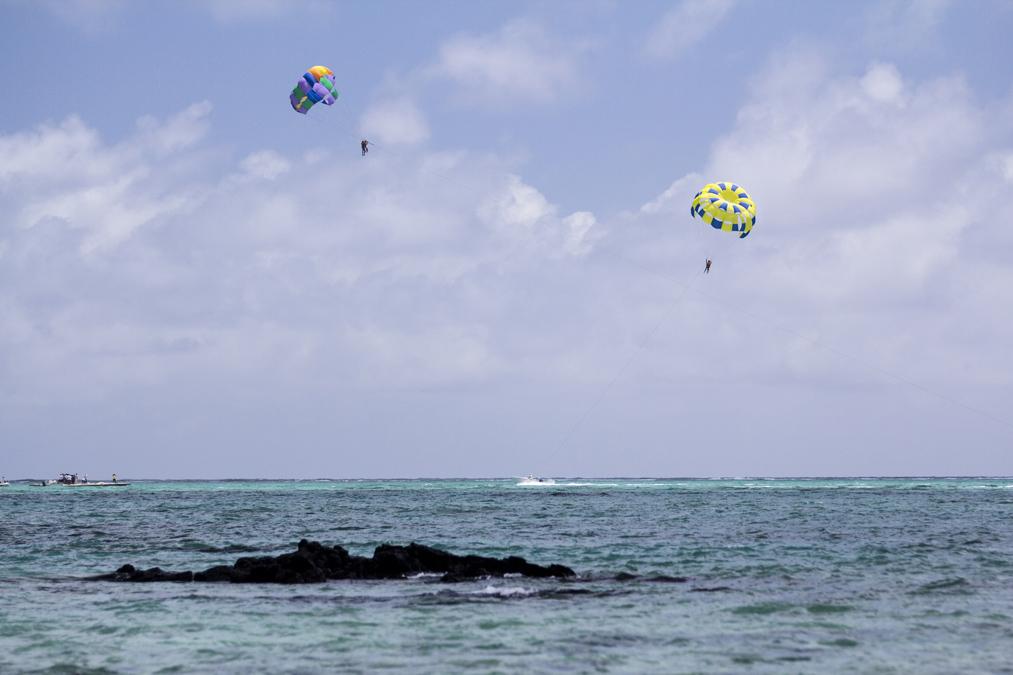 Parachute ascensionnel à Maurice