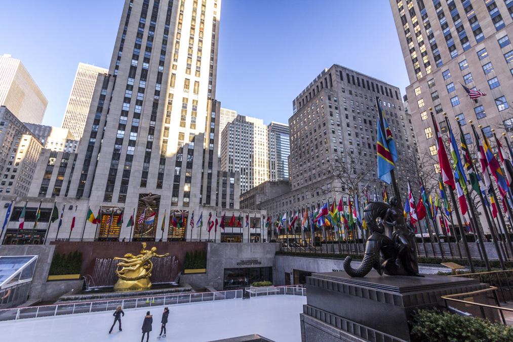Patinoire du Rockefeller Center à New York