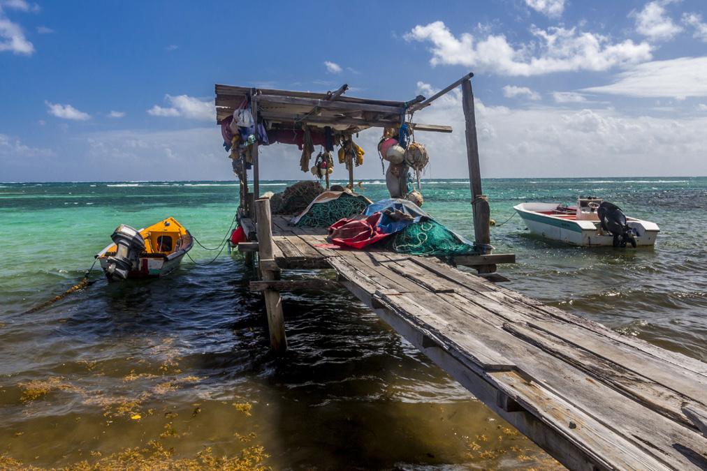 Ponton de pêcheurs au Vauclin en Martinique