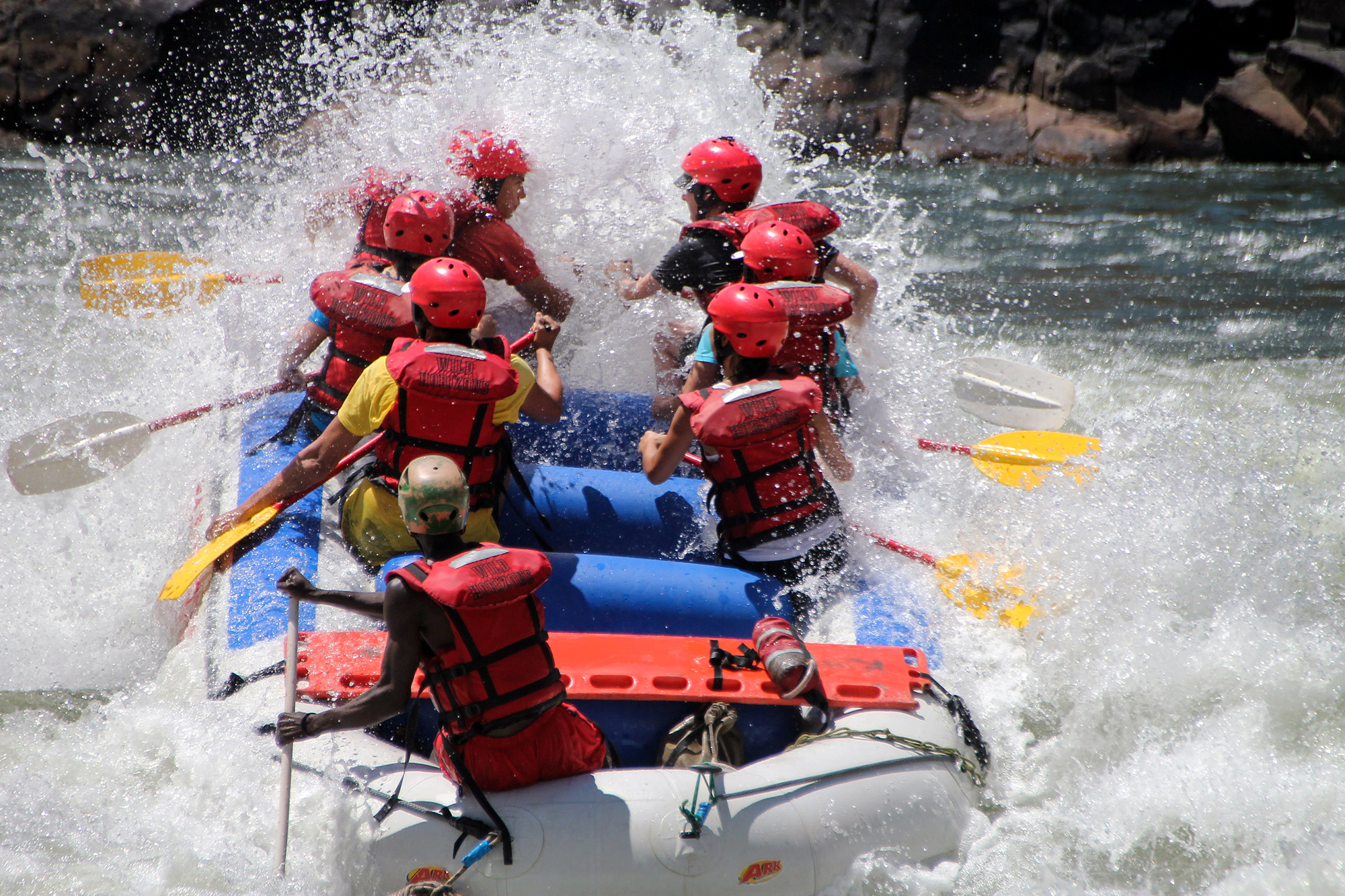 Rafting sur le Zambèze au Zimbabwe par Guillaume Projetti