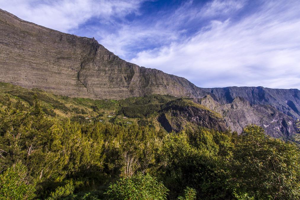 Rempart de Mafate à la Réunion
