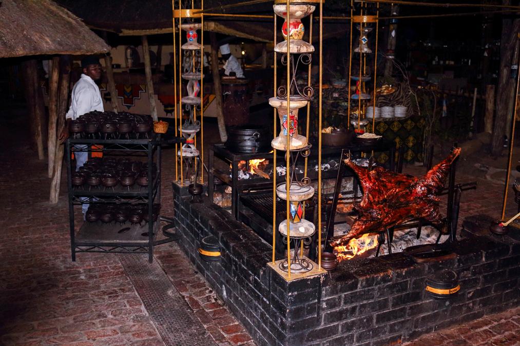 Restaurant Boma au Zimbabwe