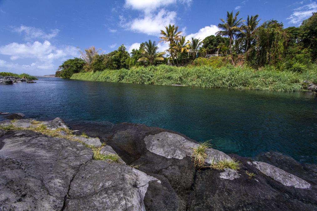 Bassin bleu à la Réunion