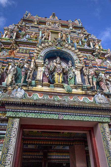 Temple tamoul du Petit Bazar à la Réunion