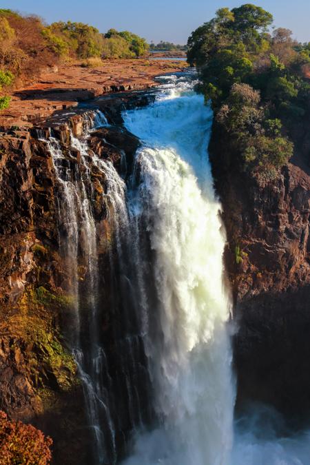 Devil's Cataract des Victoria Falls au Zimbabwe