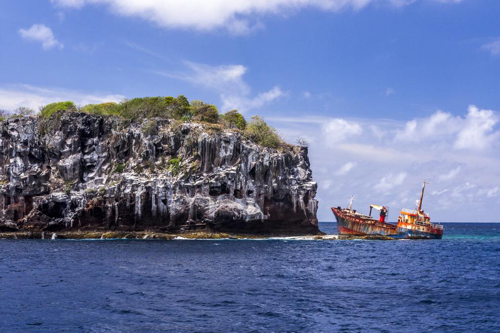Épave de l'île Bequia aux Grenadines