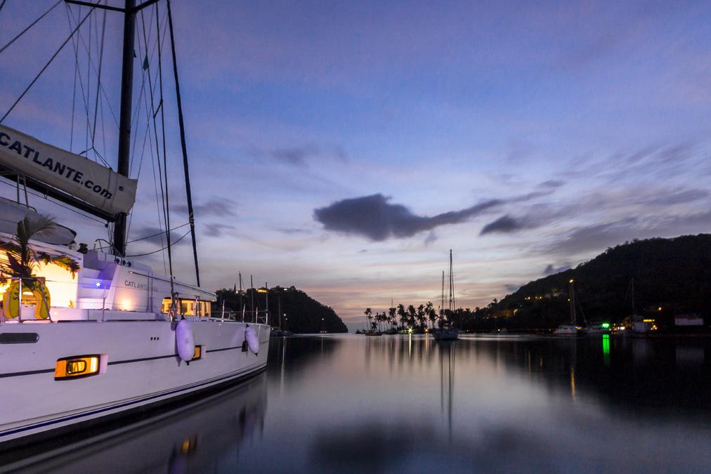 Marigot Bay de l'île Sainte-Lucie