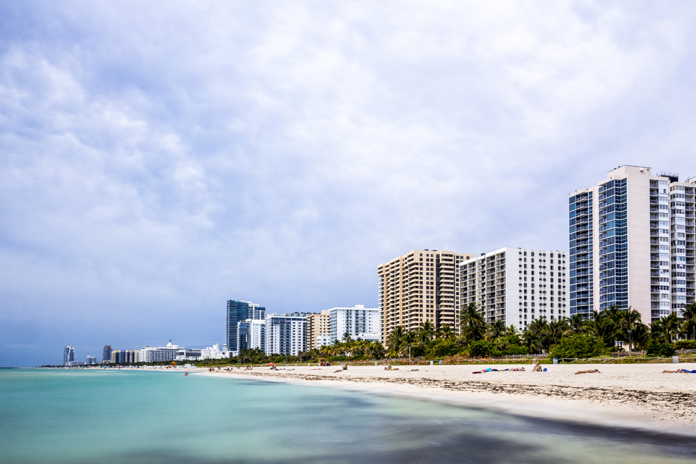 Skyline de Miami Beach en Floride