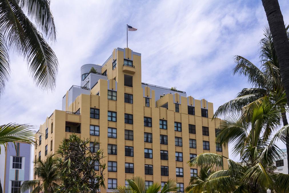 Hôtel de Ocean Drive à Miami en Floride