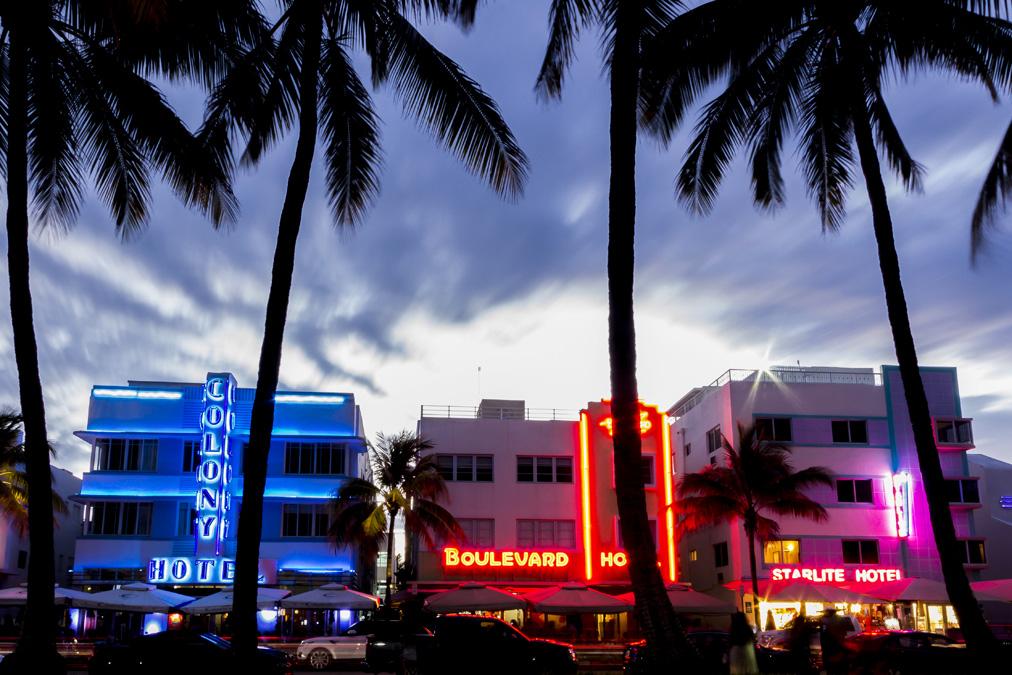 Ocean Drive à Miami en Floride