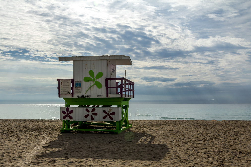 Poste de secours de Miami Beach en Floride