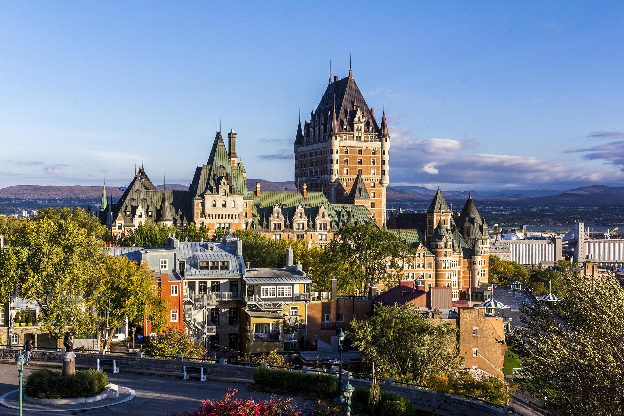 Château Frontenac de Québec au Canada
