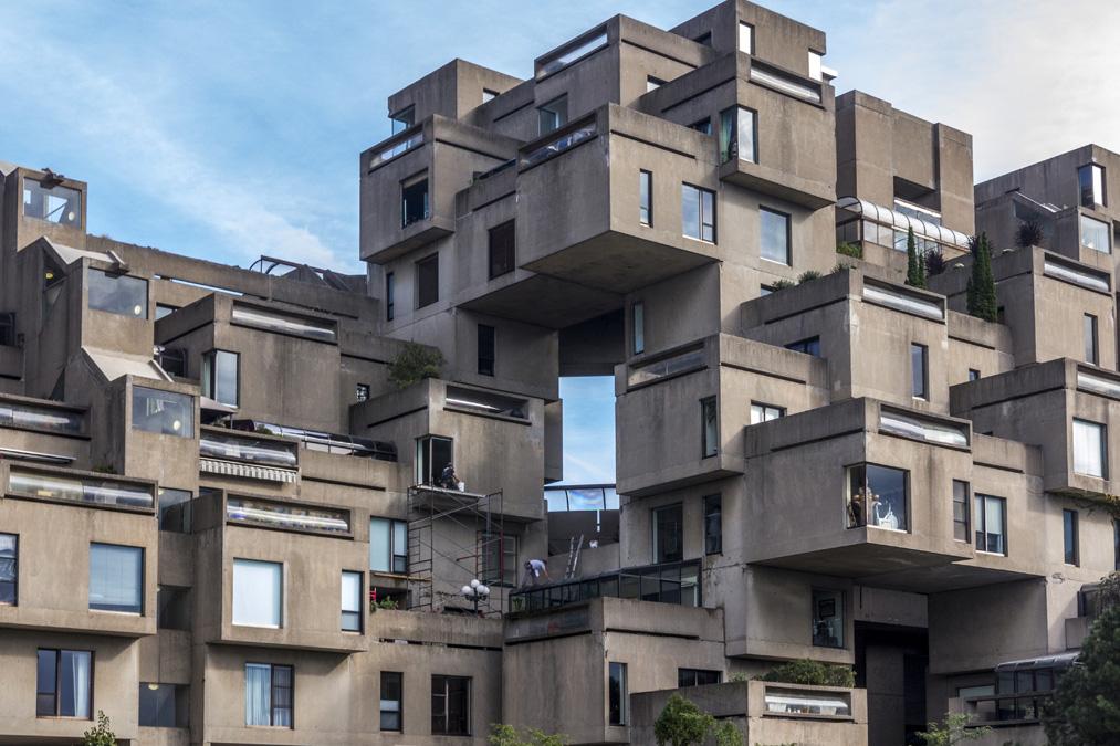 Habitat 67 dans Montréal au Canada