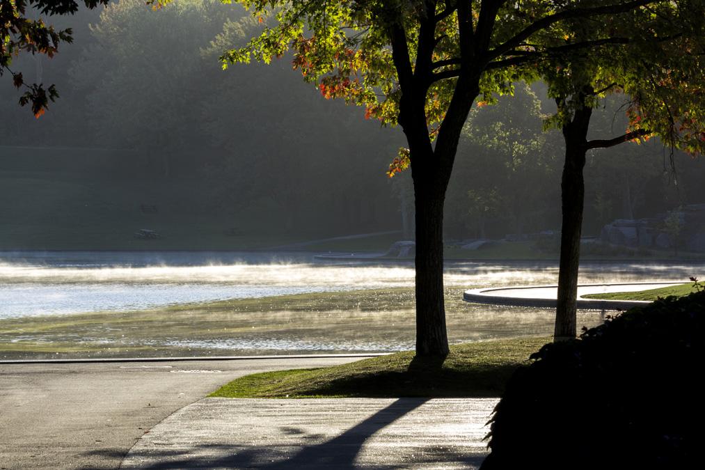 Lac aux Castors du parc Mont-Royal au Canada