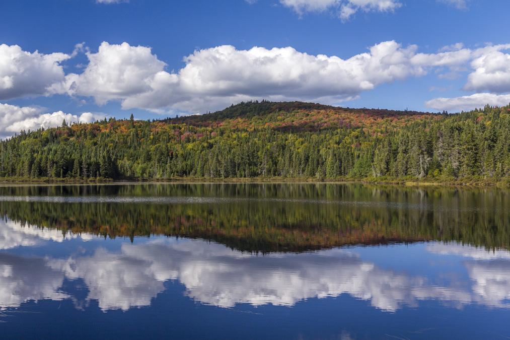 Lac Trap dans le Parc National du Mont Tremblant au Canada