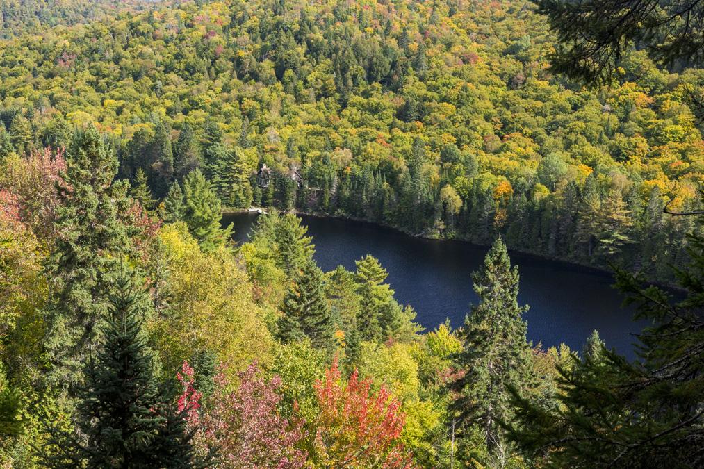 Lac Wapizagonke dans le Parc National du Mont Tremblant au Canada