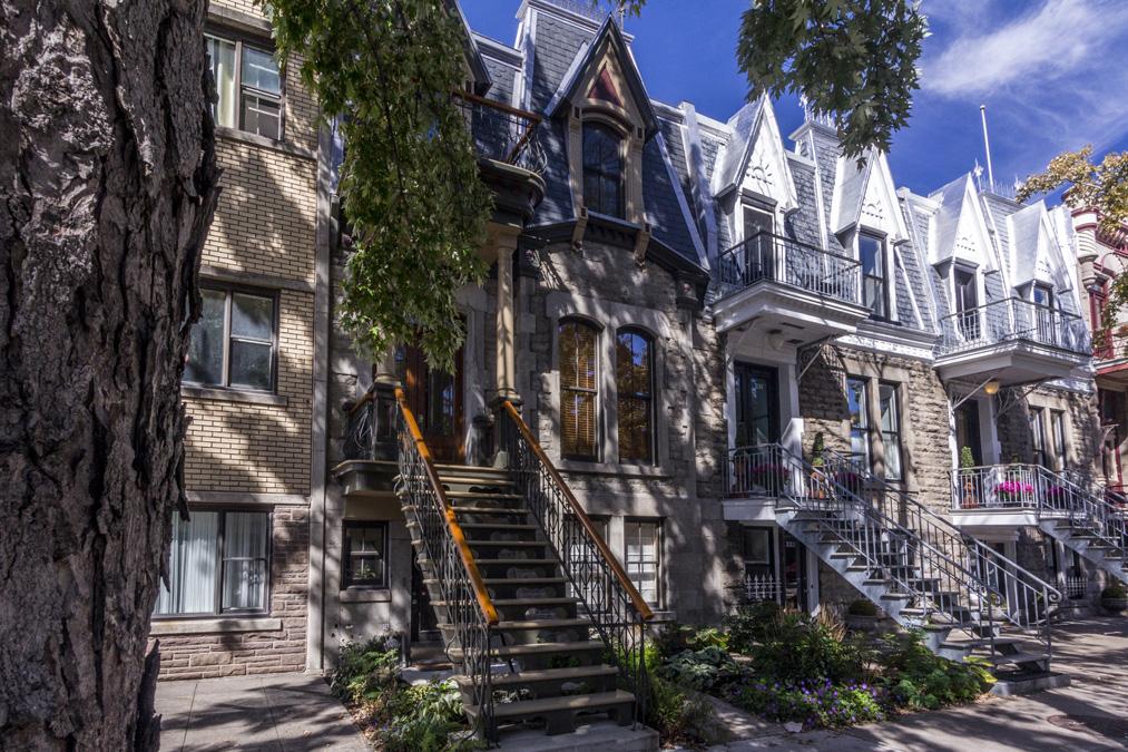 Quartier Plateau-Mont-Royal de Montréal au Canada