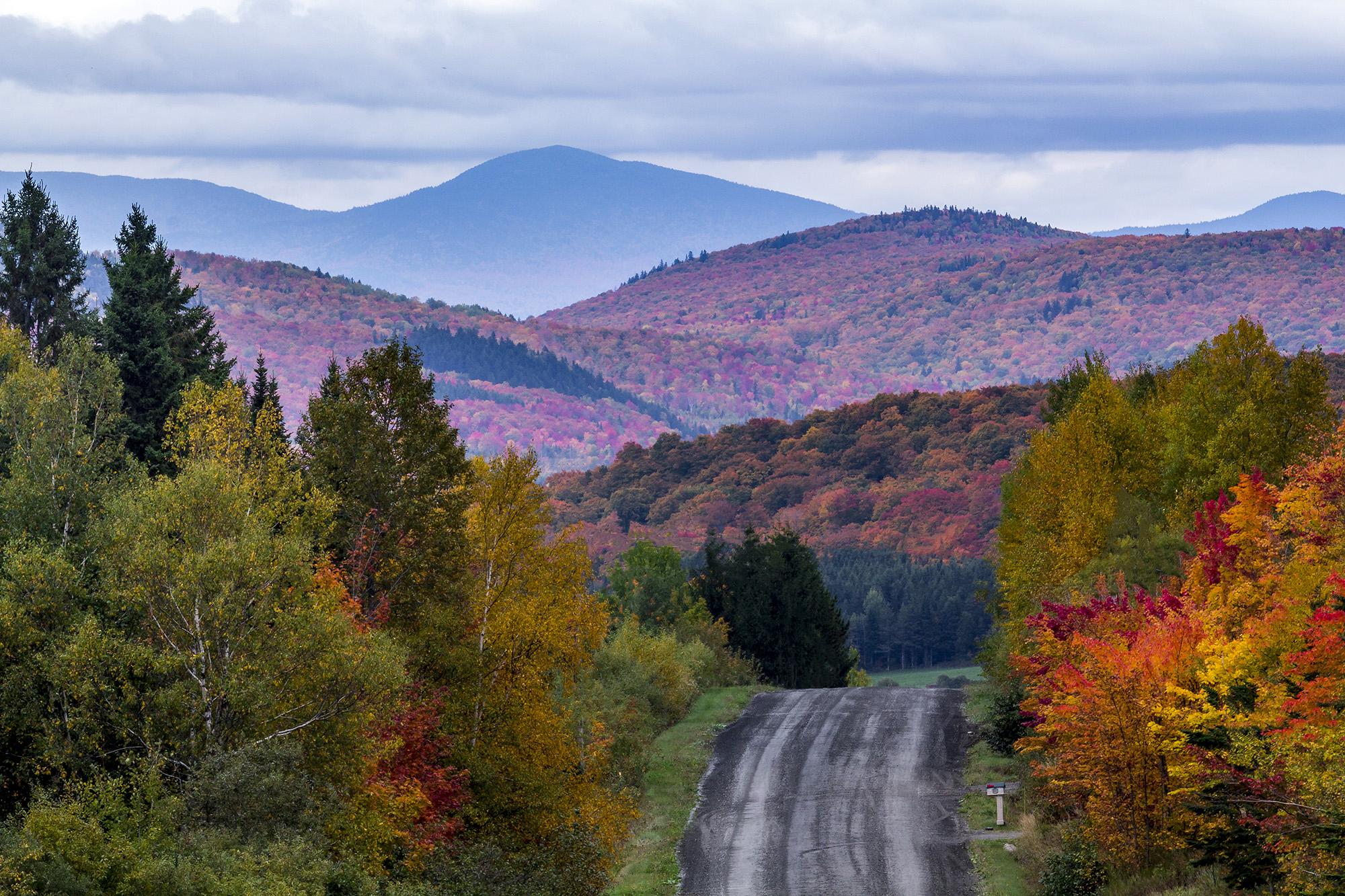 Route des Sommets dans les Cantons-de-l'Est au Canada