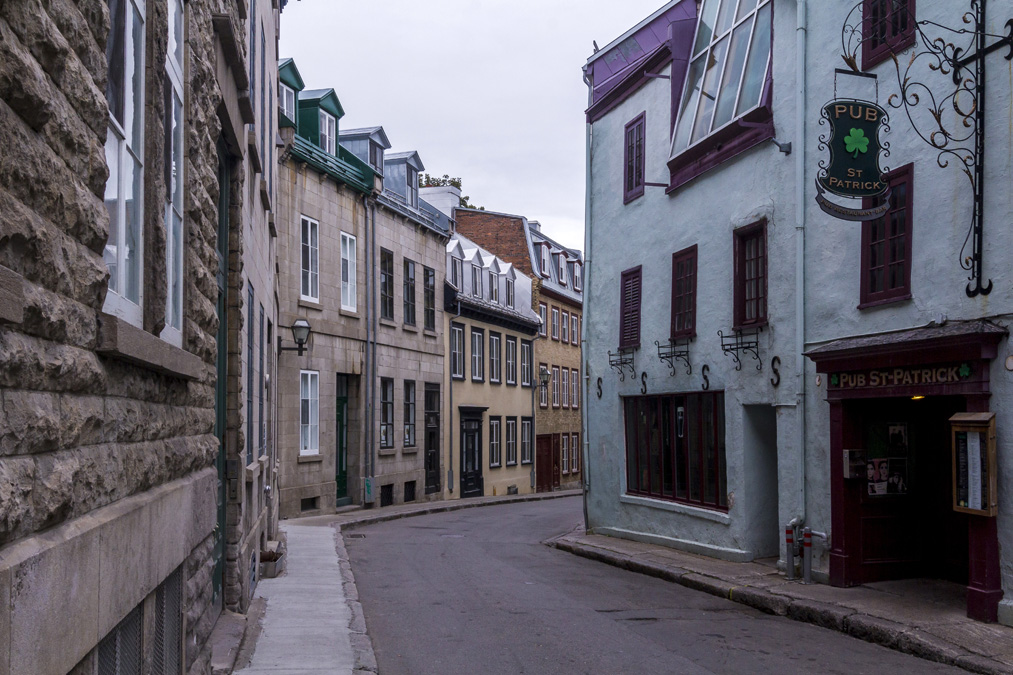 Rue Couillard de la ville de Québec au Canada