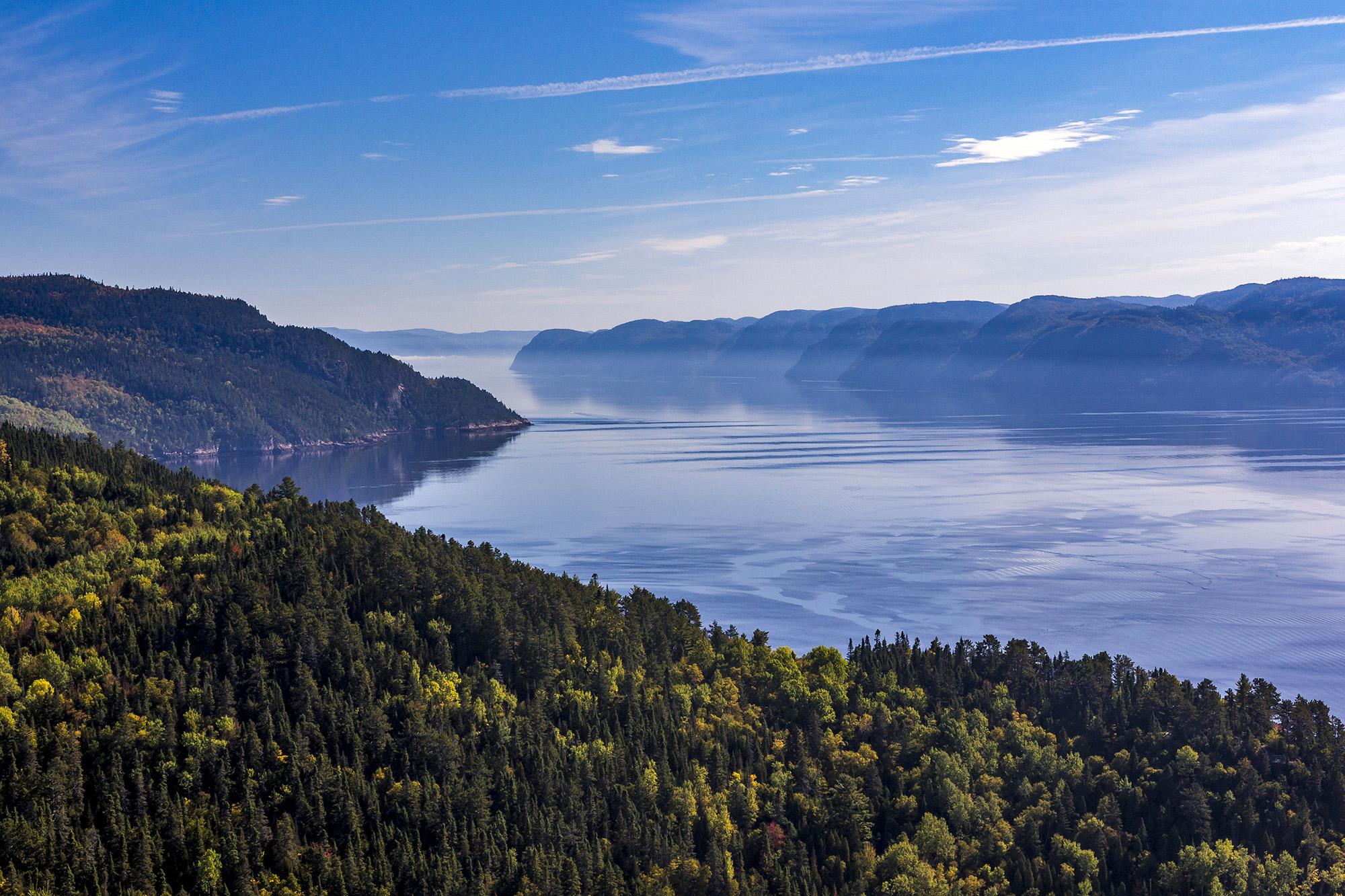 Sainte-Rose-du-Nord dans le Parc national du Fjord-du-Saguenay au Canada