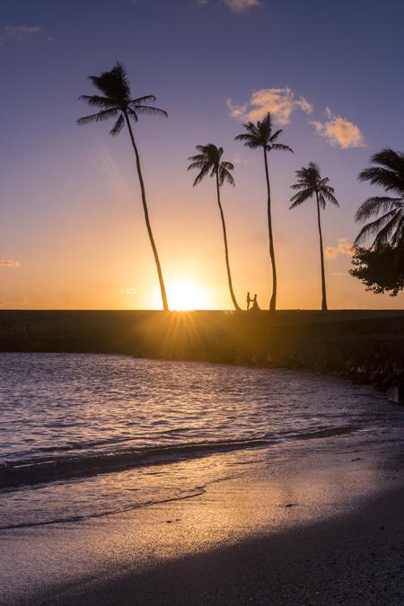 Ala Moana Regional Park à Honolulu sur l'île Oahu de l'archipel d'Hawaï