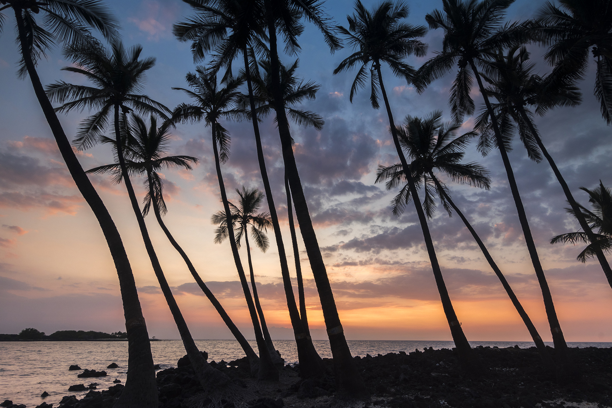 Mahai'ula Beach sur l'île Big Island de l'archipel de Hawaï