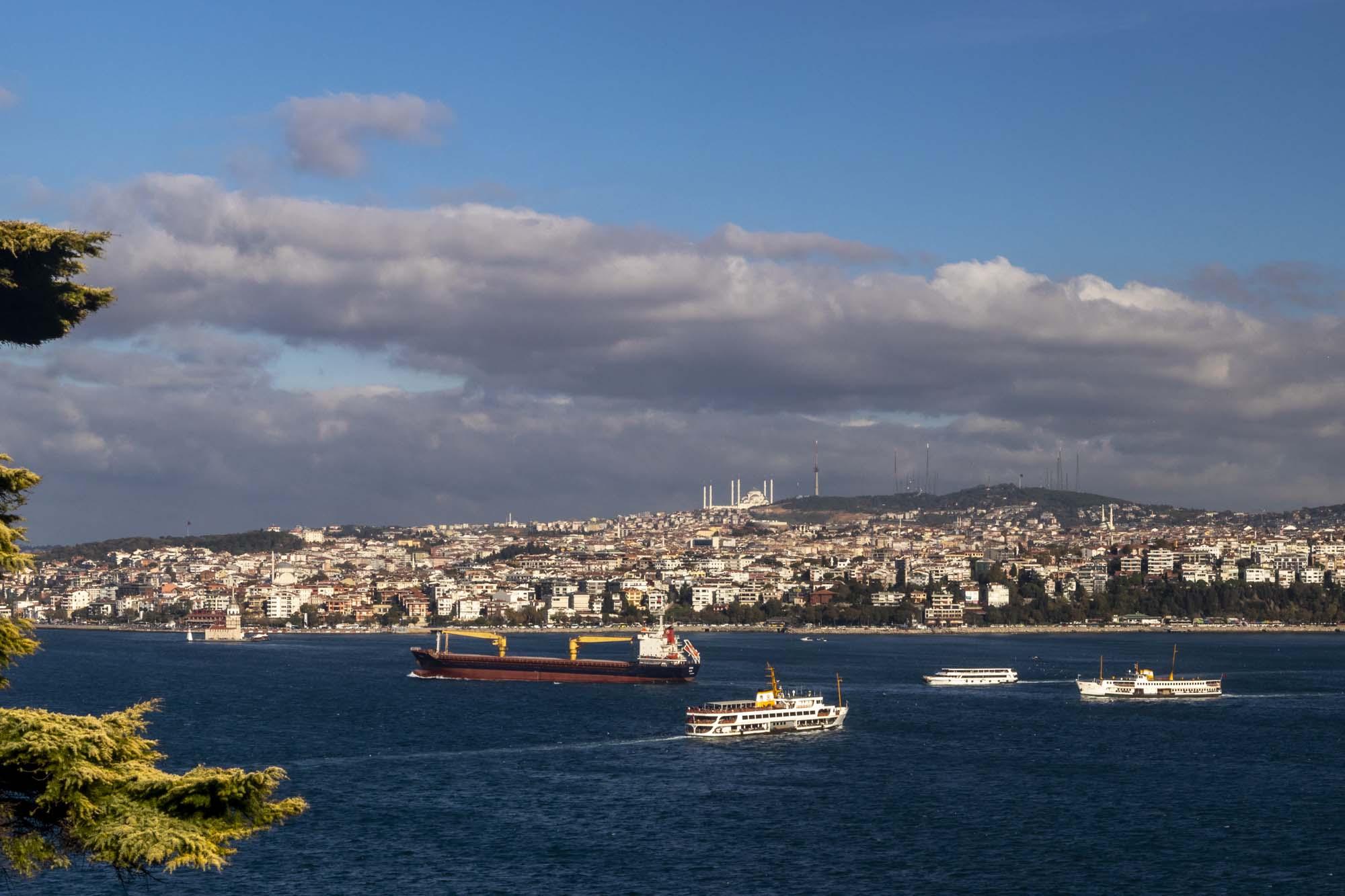 Istanbul Boğazı ou Bosphore dans la ville d'İstanbul en Turquie