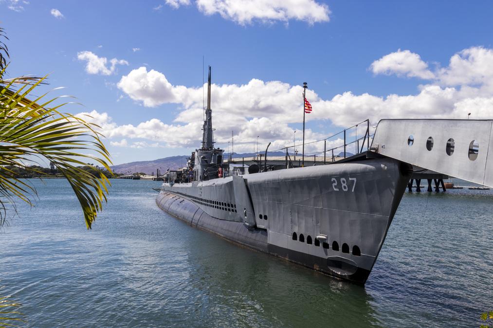 USS Bowfin Submarine à Honolulu sur l'île Oahu de l'archipel d'Hawaï