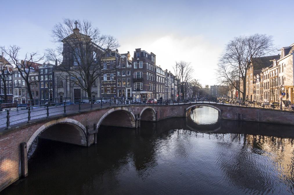 Sept ponts du Reguliersgracht à Amsterdam