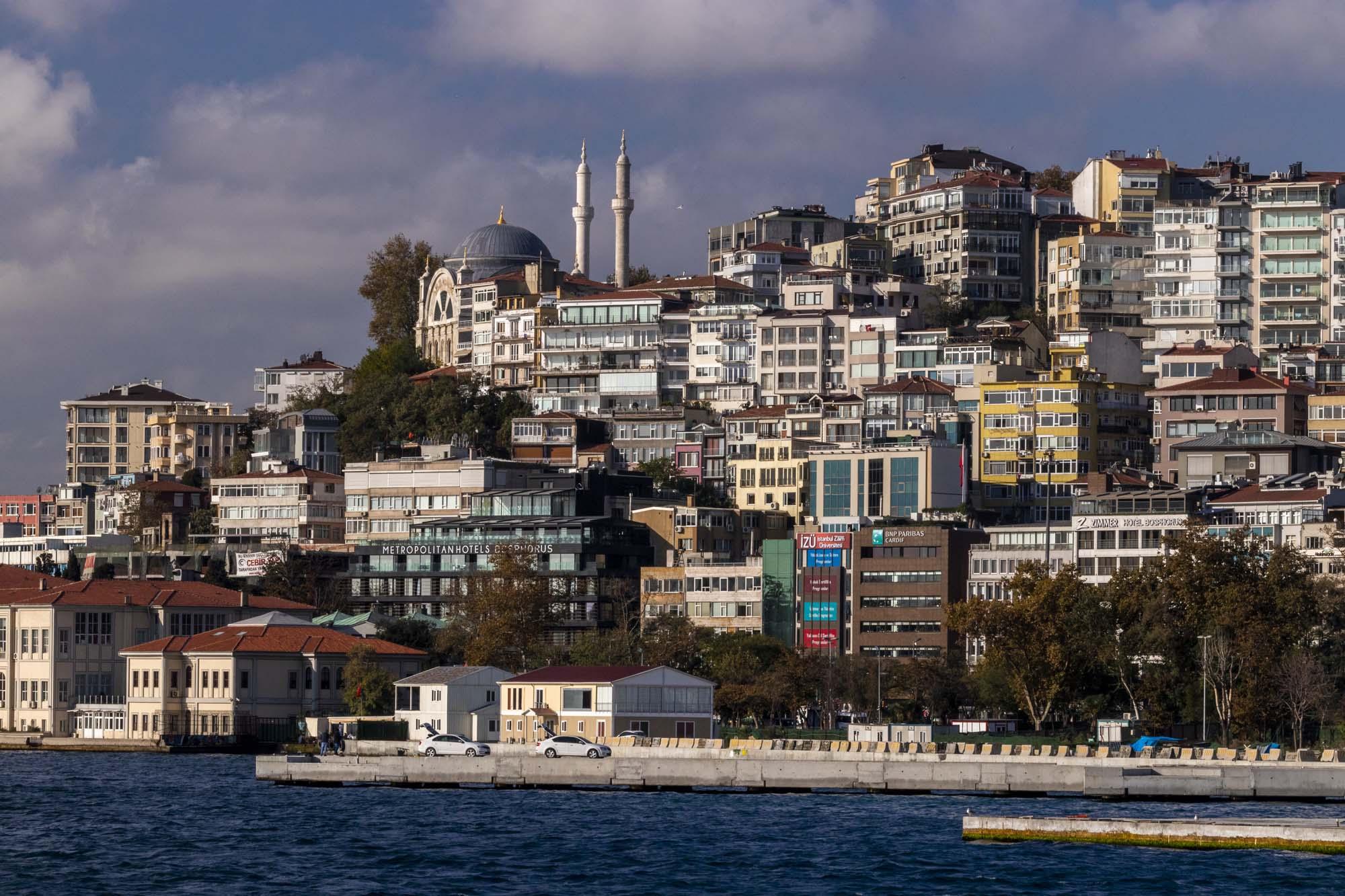 Quartier de Cihangir dans la ville d'İstanbul en Turquie