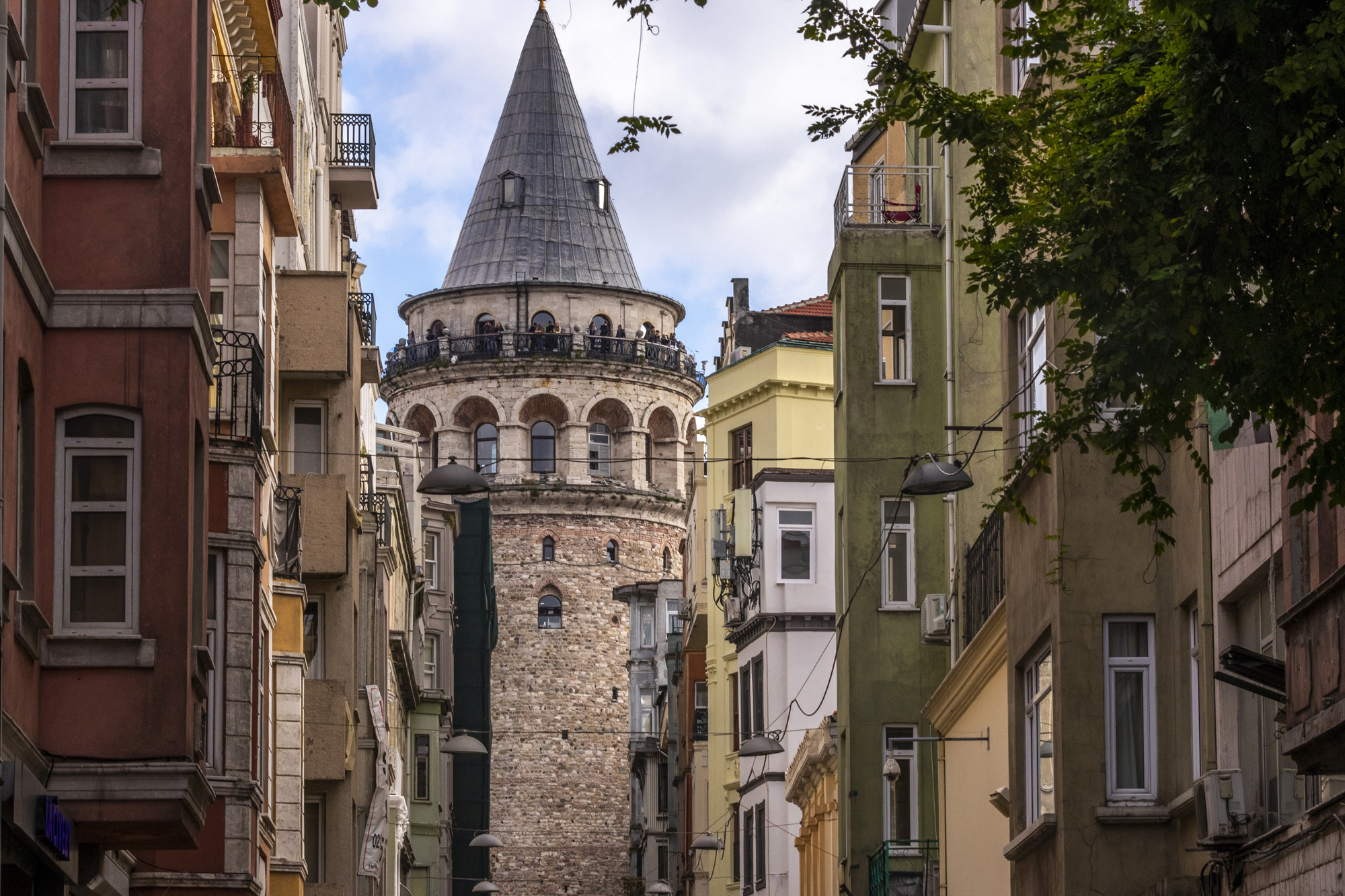 Galata Kulesi dans la ville d'İstanbul en Turquie